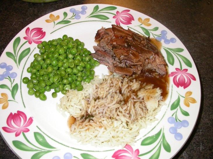 Crock Pot Roast - served