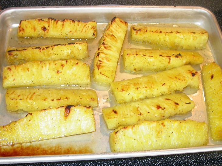 Grilled Pineapple - out of oven