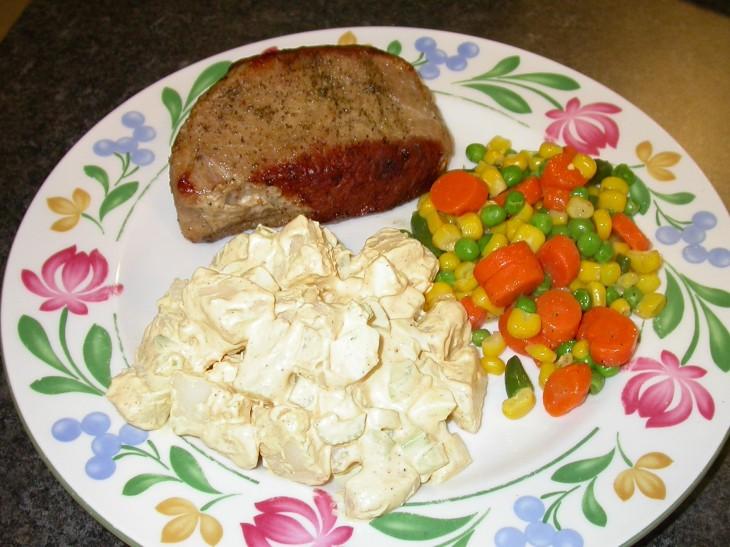 Deviled Potato Salad - served
